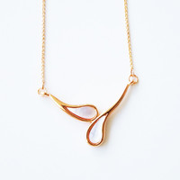 18K Rose Gold plated petals pendant necklace