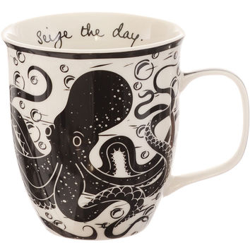 Seize the Day Octopus Mug