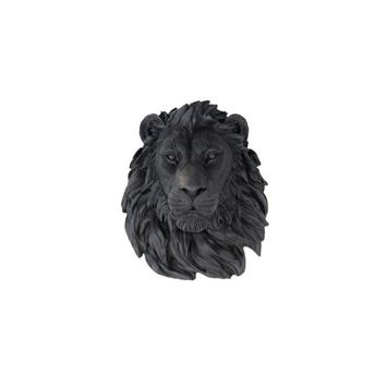 Lion Head Faux Taxidermy Wall Décor