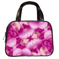 Beauty Pink Abstract Design Classic Handbag (Two Sides)
