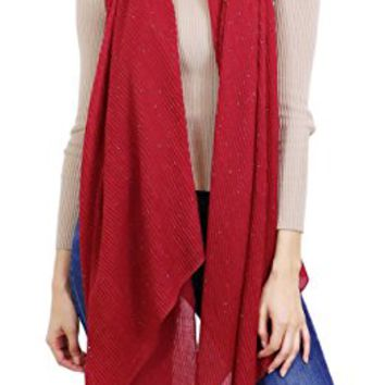 7 Seas Republic Women's SHIMMER PLEATED OBLONG SCARF