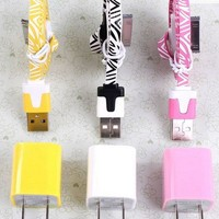 6 pcs/Lot!USB Data Charging Cord and charger iphone 4/4s