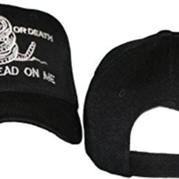Culpeper Liberty Or Death Don't Tread On Me Black Embroidered Baseball Cap Hat