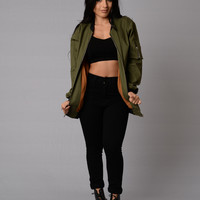 Mo' Money Mo' Problems Jacket - Olive