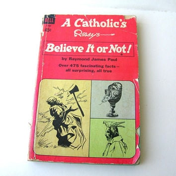 Vintage Book, Ripley's Believe it or Not, Catholic Edition, 1960s Book, Vintage Paperback Book, Religious Book
