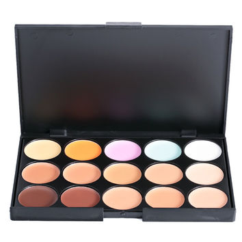 The New Fashionable 15 COLORS Professional Salon Party Concealer The Contour Face Cream Makeup Palette
