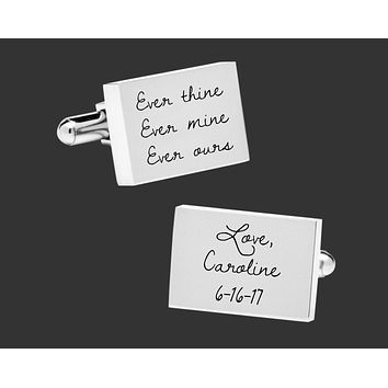Wedding Gift for Groom | Husband Gift | Personalized Cuff Links