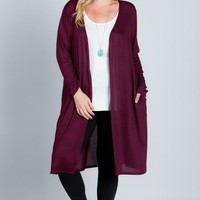 Plus Sized Long Cardigan