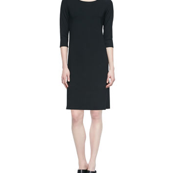 3/4-Sleeve Jersey Dress, Petite, Size: