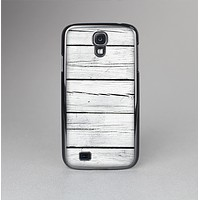 The White Wood Planks Skin-Sert Case for the Samsung Galaxy S4