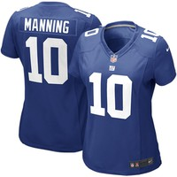 Women's New York Giants Eli Manning Nike Royal Blue Game Jersey