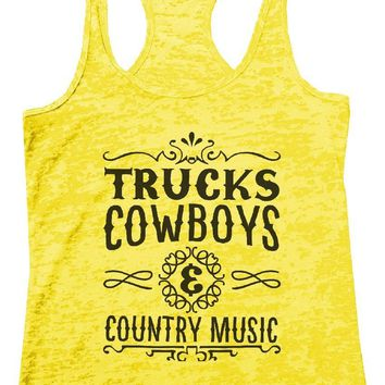 TRUCKS COWBOYS & COUNTRY MUSIC Burnout Tank Top By Funny Threadz