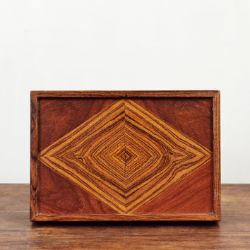 1950's Don S .Shoemaker Wooden Box Mexico