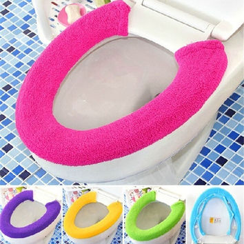 SuperDeals All Shape Toilet Cover Seat Lid Pad Bathroom Protector Closestool Soft Warmer  HI HI = 1945842756