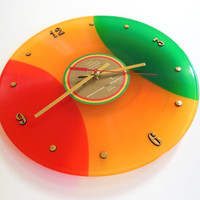 BOB MARLEY Colored Vinyl Record Wall Clock (Legend)