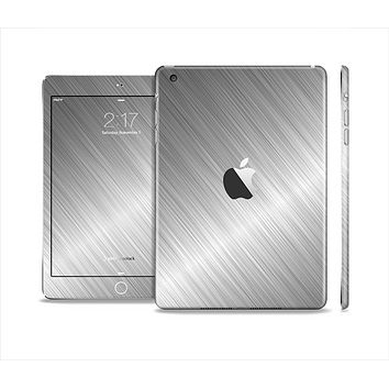The Silver Brushed Aluminum Surface Skin Set for the Apple iPad Mini 4