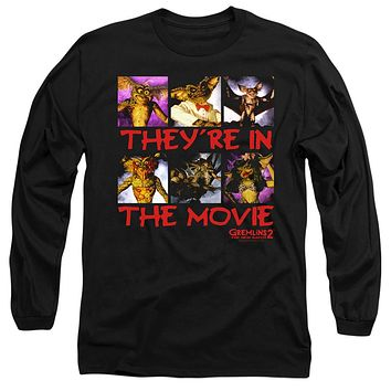 Gremlins 2 Long Sleeve T-Shirt They're in the Movie Black Tee
