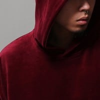 Mens HA Velour Tracksuit Hoodie at Fabrixquare