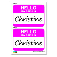 Christine Hello My Name Is - Sheet of 2 Stickers