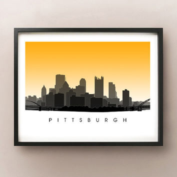 Pittsburgh Skyline - Pennsylvania Poster Print