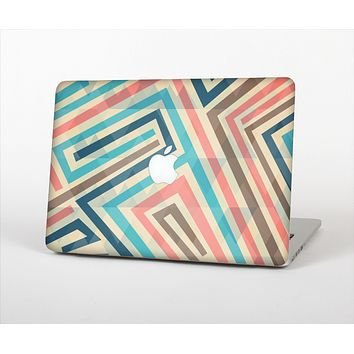 The Retro Colored Maze Pattern Skin Set for the Apple MacBook Air 13""