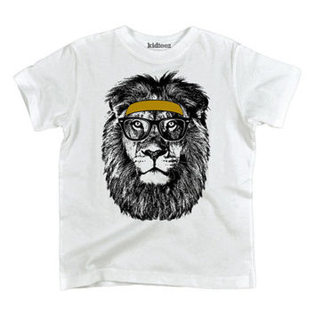 White Headband & Glasses Lion Tee - Toddler & Kids | zulily
