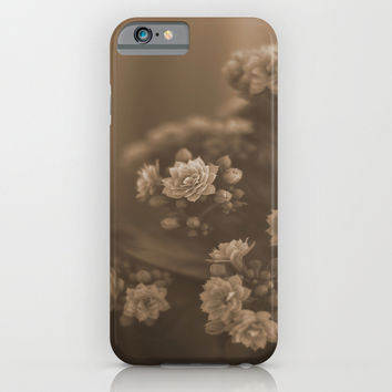 Sepia Blossom iPhone & iPod Case by Maria Moreno