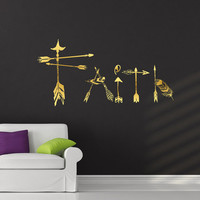 Boho Arrows Wall Decals Faith Decal Boho Vinyl Sticker Bohemian Bedroom Decor for Home  T53