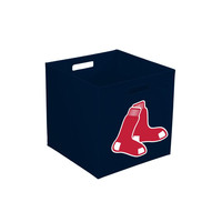 MLB Boston Red Sox 10-Inch Cloth Storage Cube with Handles