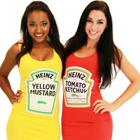 Heinz Ketchup & Mustard Juniors Tunic Tank Dress - Tank Dress Outfits - | TV Store Online