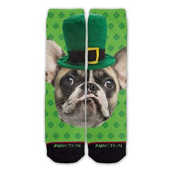 Function - St. Patrick's Day French Terrier Fashion Socks