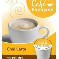 Café Escapes Chai Latte, K-Cup Portion Pack for Keurig Brewers, 24-Count