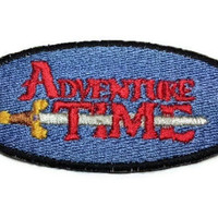Iron on Adventure Time with  Finn and Jake TV show LOGO embroidered patch