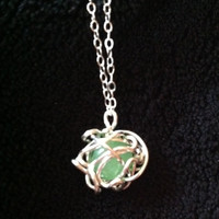 Wire Wrapped Peridot Necklace by dktop on Etsy