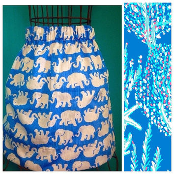 Custom Lilly Pulitzer Good Reef Skirt