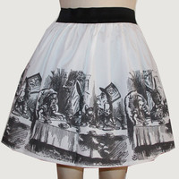 Original Alice Illustration Full Skirt
