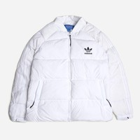 Adidas Originals Superstar Down Jacket BS4418 | White Jackets| Clothing - Naked