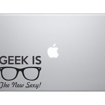 "Geek Is The New Sexy Vinyl Decal Sticker Skin MacBook Pro Air 13"" 15"" 17"" Laptop"