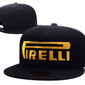 ZZZB Pirelli Tires Motorcycles Racing Biker Logo Adjustable Snapback Hat Embroidery Cap