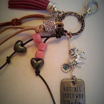 Purse Charm, Purse Clip, Saddle Charm, Saddle Clip, Boho Charm, Car Charm, Key Chain