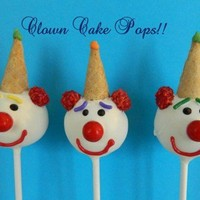 12 Clown Cake Pops Circus Birthday Party Favors