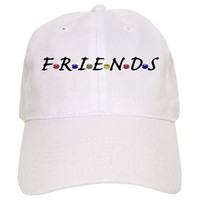 FRIENDS AND COFFEE CUPS BASEBALL BASEBALL CAP