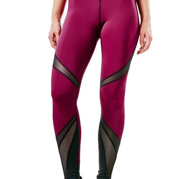 Michi Radiate Leggings - Shiraz/Black