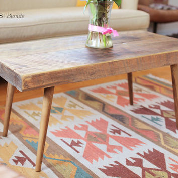 GOWANUS coffee | Mid century modern inspired reclaimed wood coffee table