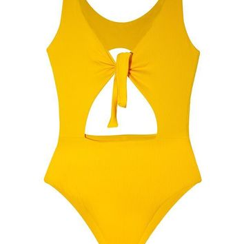 MAYLANA Paige Golden Ribbed One Piece