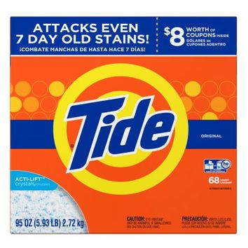 Tide Original HE Turbo Powder Laundry Detergent, 68 Loads, 95 Oz - Walmart.com
