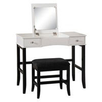 Linon Home Decor Vanity - Black/White