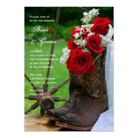 Rustic Roses Country Wedding Invitation from Zazzle.com