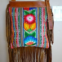 Boho Princess Andean Textile Fringe Bag by KanikaCreations on Etsy