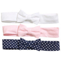 H&M - 3-pack Hairbands - Pink - Kids
